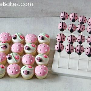Ladybug Cake Pops and Ladybug Cupcakes