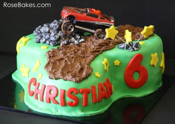 Mud Riding Mustang Cake