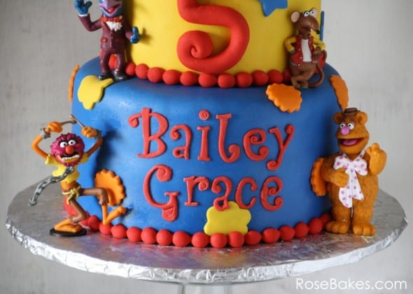 Muppets Cake Name Funky Alphabet Tappit Letters