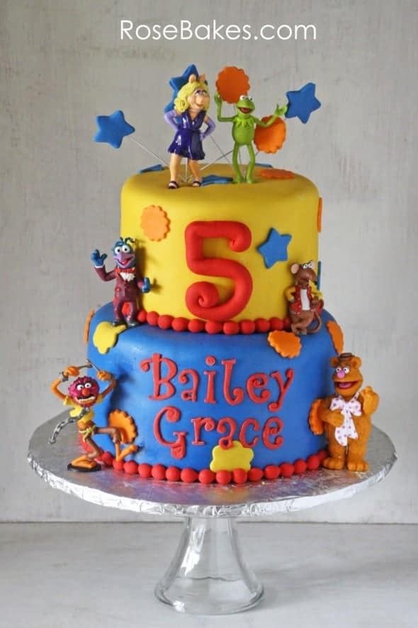 Muppets Cake Primary Colors
