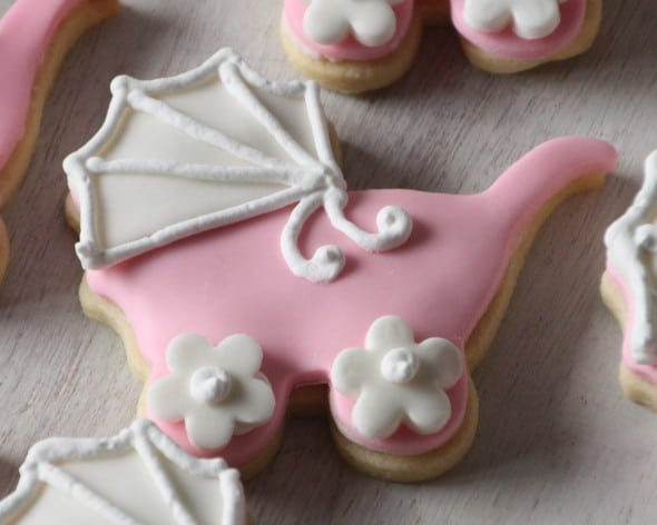 Pink Baby Carriage Cookie