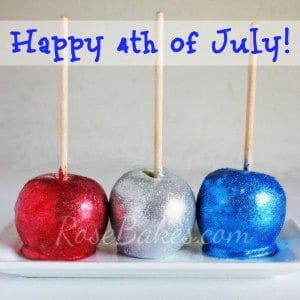 Happy 4th of July with Glittery Candy Apples!!