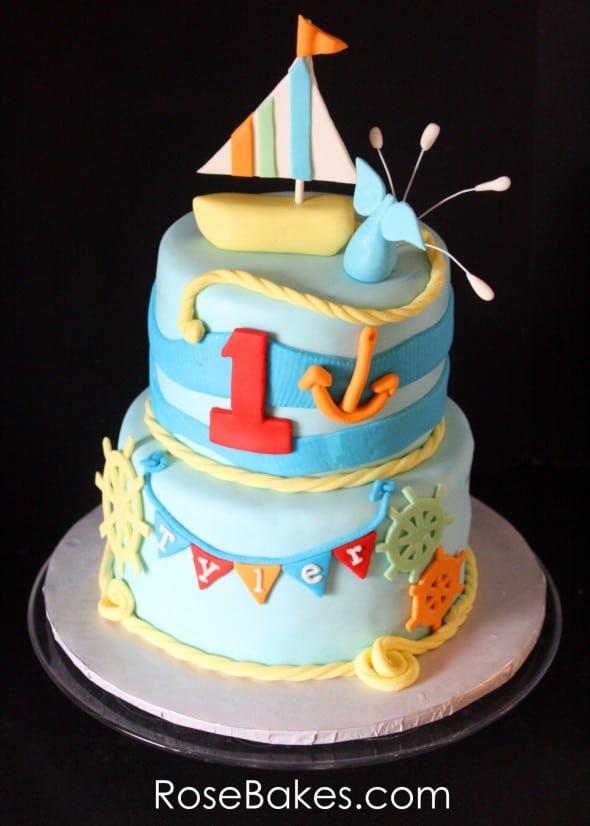 Sailboat Nautical Cake
