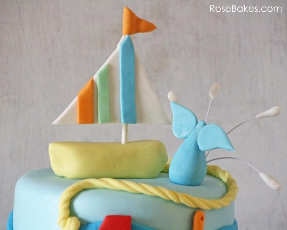 Sailboat Whale Cake Topper