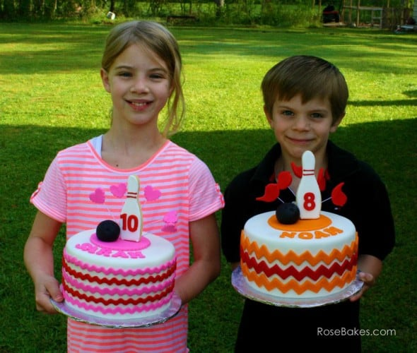 Sarah and Noah with their Cakes