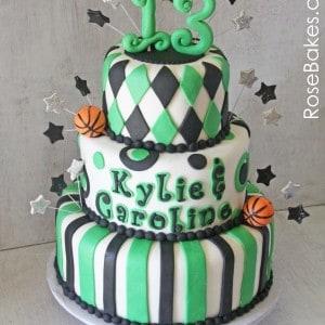 School Spirit 13th Birthday Basketball Cake