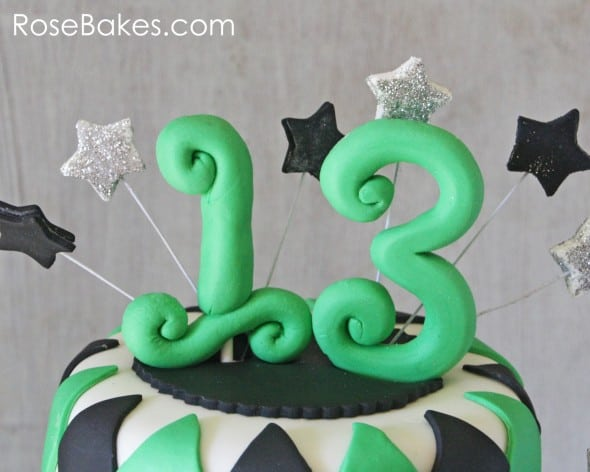 School Themed Basketball 13th Birthday Cake Number Toppers