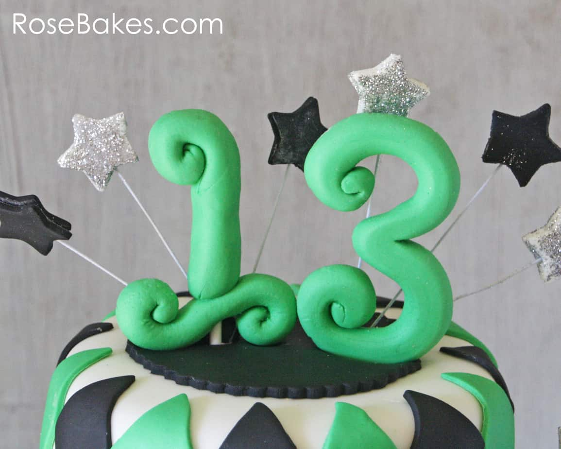 Strange How To Make Fondant Number Cake Toppers Rose Bakes Funny Birthday Cards Online Inifofree Goldxyz