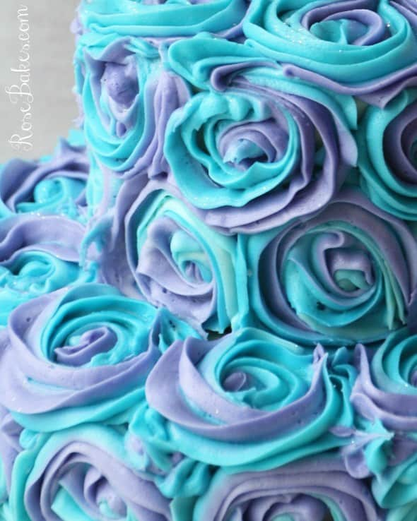 Two Colored Swirl Frosting