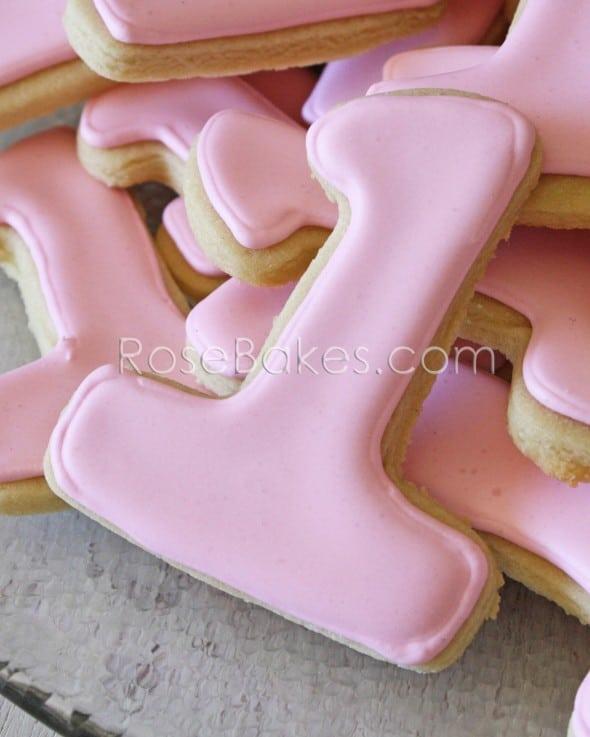 1st Birthday One Cookies