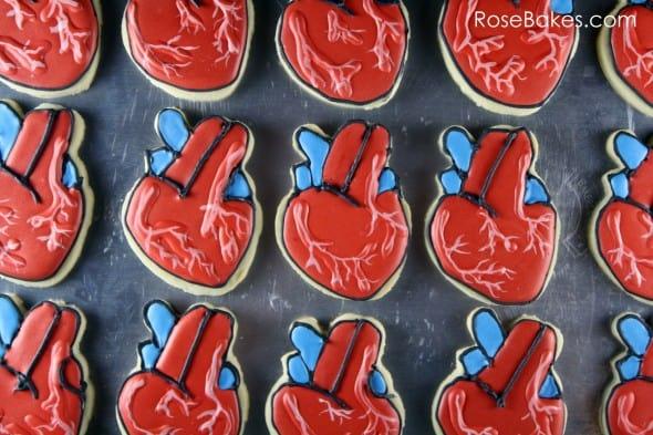 Anatomical Heart Cookies