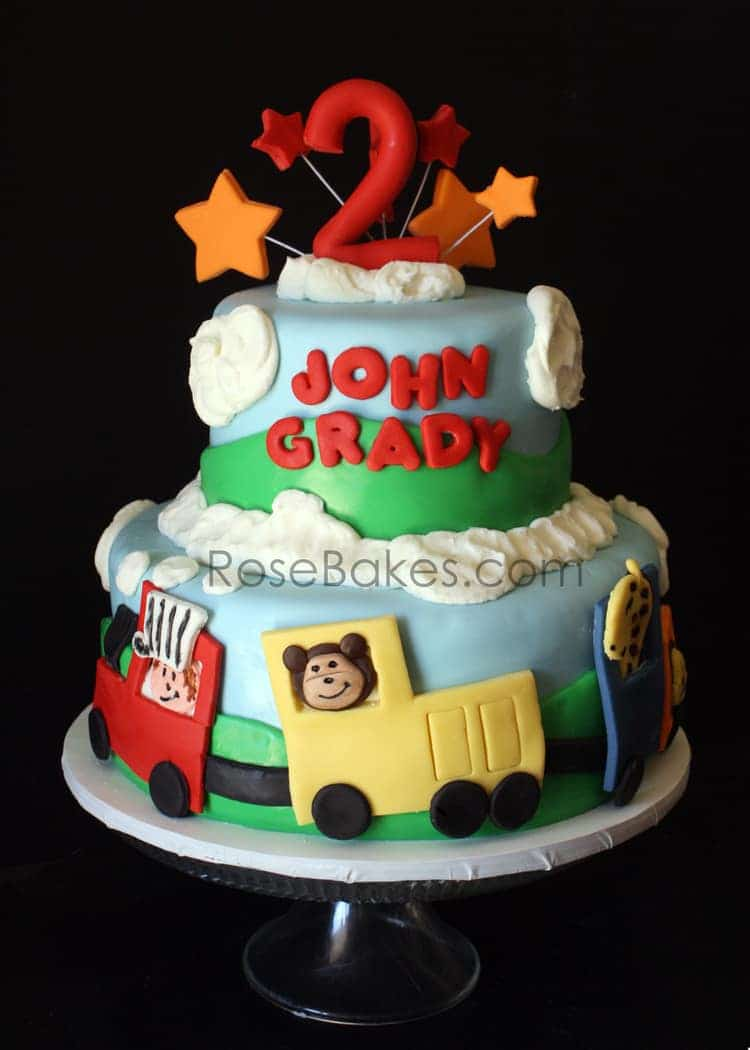 Circus Train Cake With Animals Rose Bakes