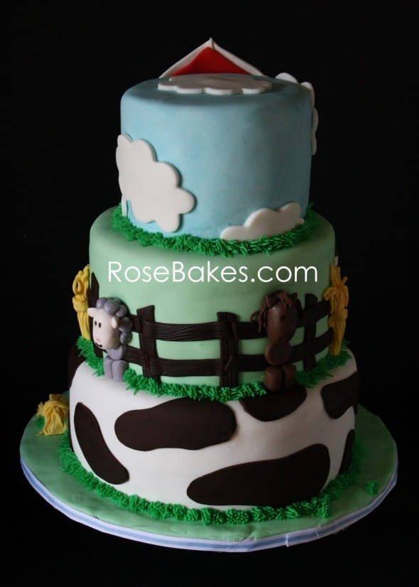 Farm Animals Cake Back