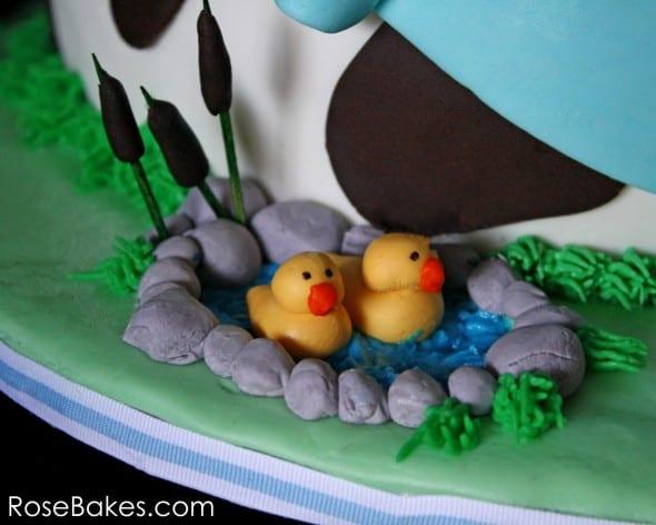 Farm Animals Cake Ducks in a Pond
