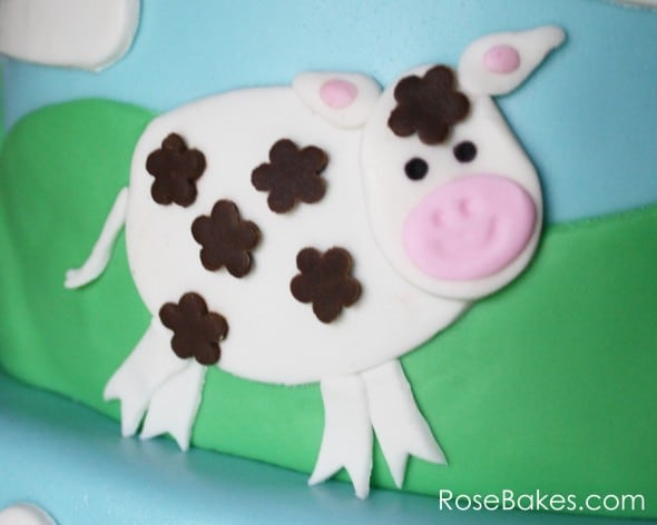 Farm Cake with Cow