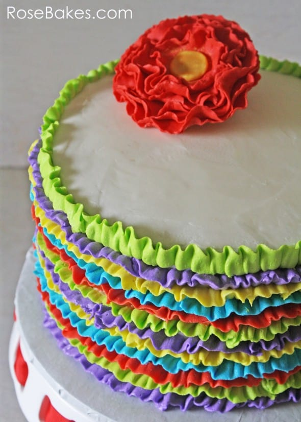 Fiesta Ruffles Cake Side