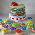 Fiesta Ruffles Cake and Cupcakes