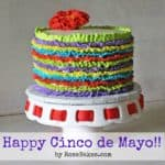 Happy Cinco de Mayo Fiesta Ruffles Cake