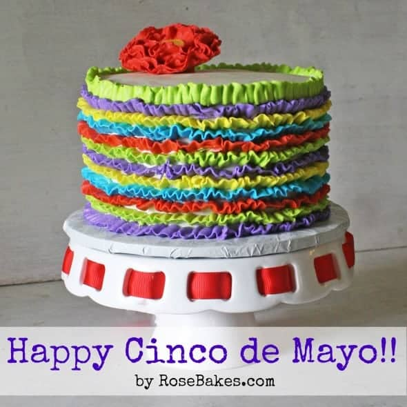 Happy Cinco de Mayo Fiesta Ruffles Cake