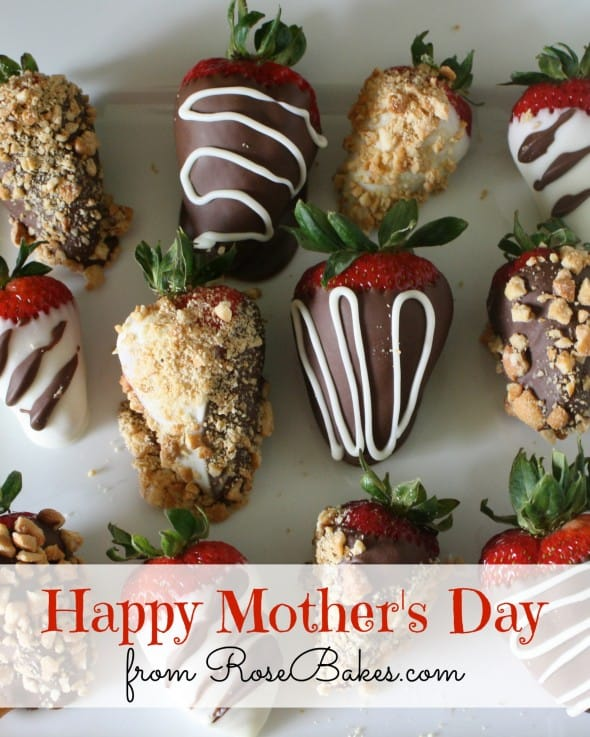 Happy Mothers Day Chocolate Dipped Strawberries