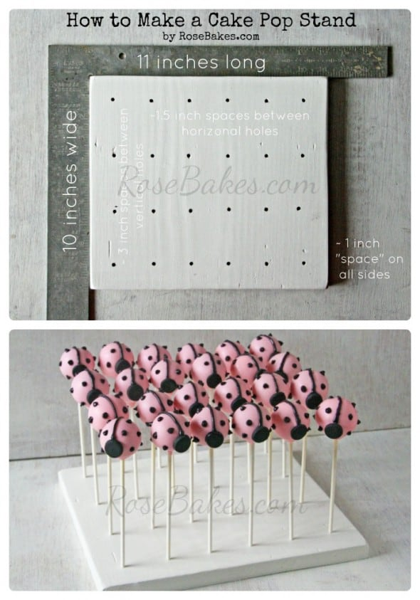 How to make a homemade cake pop stand rose bakes for How to make a cake stand
