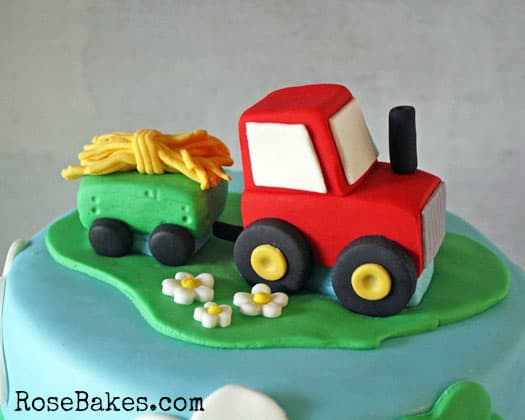 Little Red Tractor Cake Topper WM