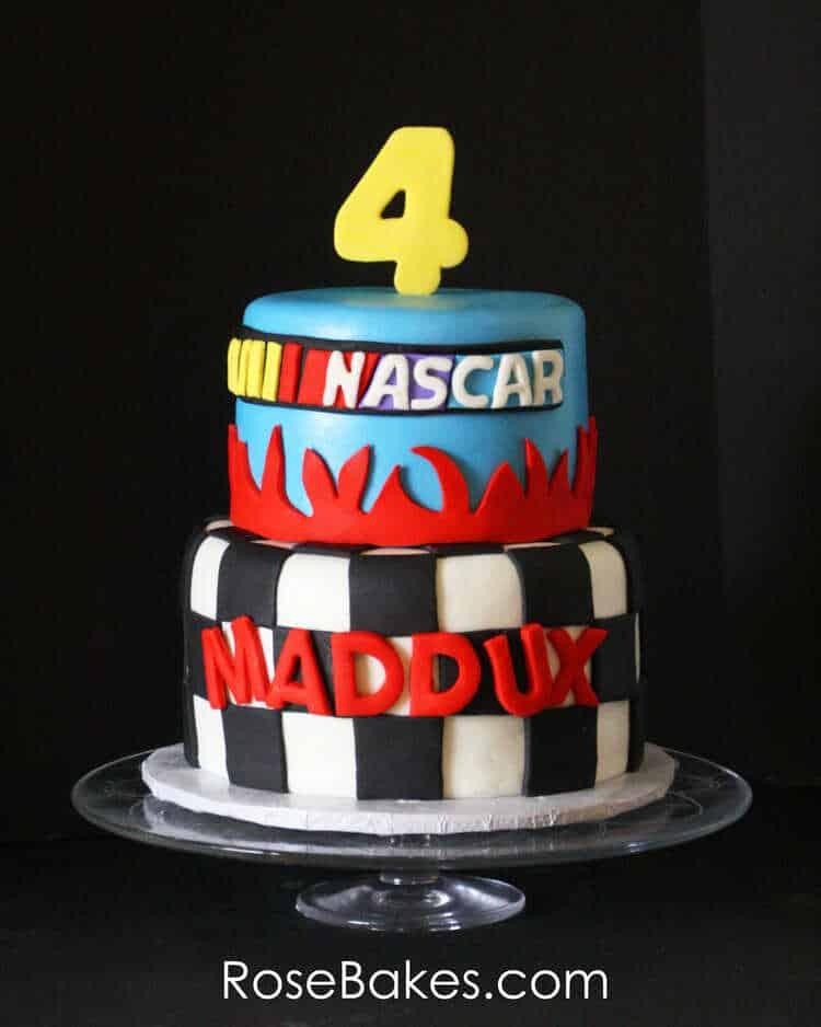 Nascar Birthday Cake Rose Bakes