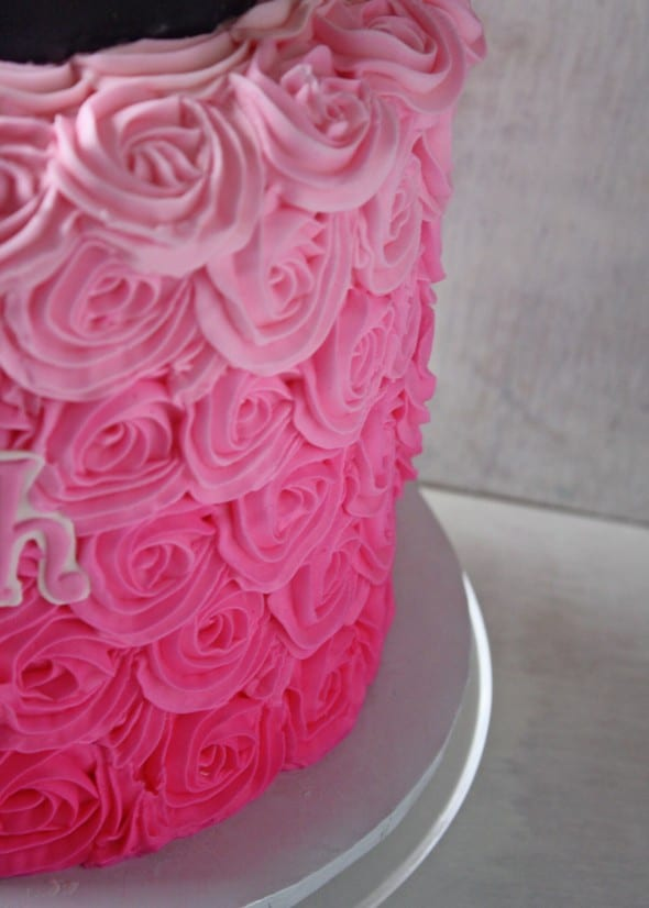 Pink Ombre Minnie Mouse Cake Rose Bakes