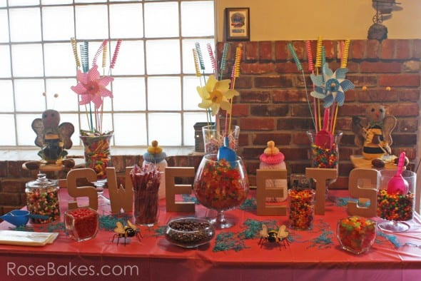 Sweets Table at Gender Reveal Party