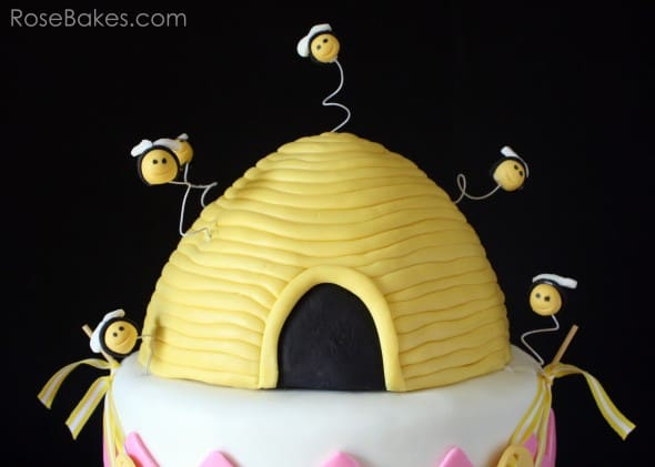 What Will They Bee Gender Reveal Beehive Cake Top