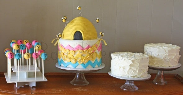 What Will They Bee Gender Reveal Cakes and Cake Pops wm