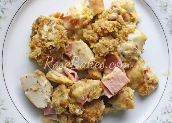 Chicken Cordon Bleu Casserole Above