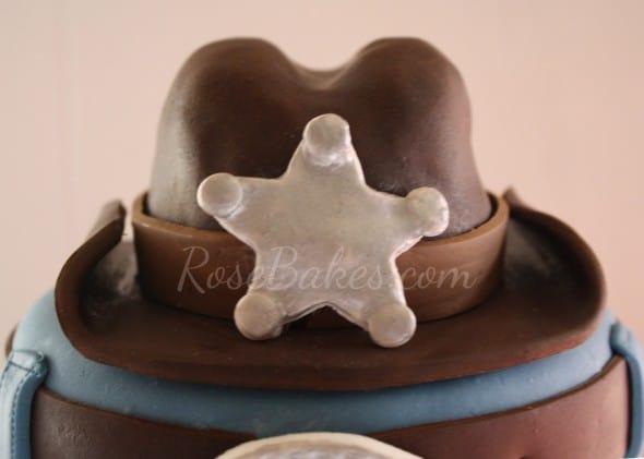 Cowboy Hat Cake Topper Front