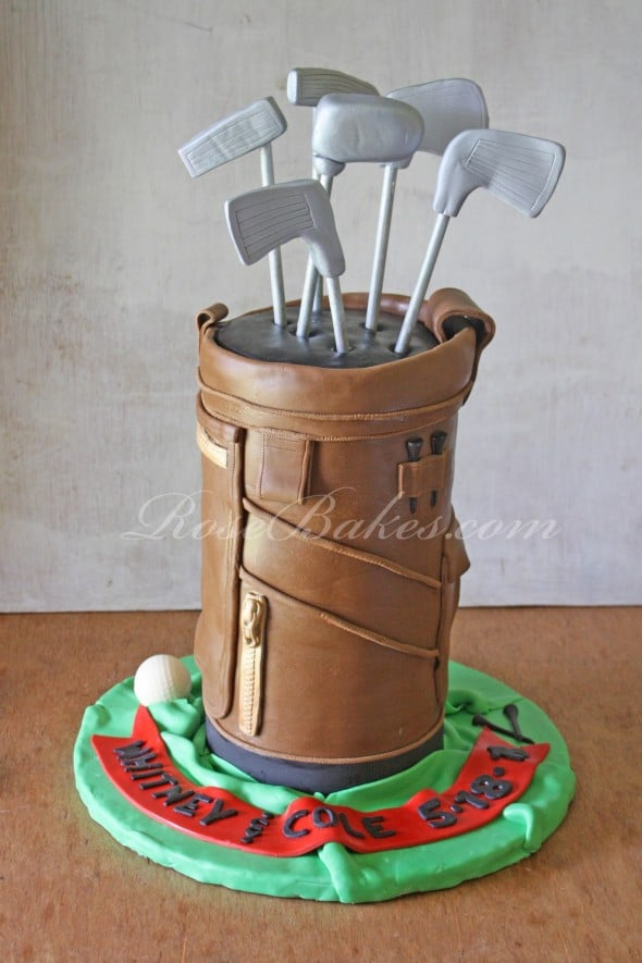 Golf Bag Cake Images : Golf Bag Groom s Cake... or for Father s Day! - Rose Bakes