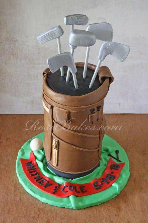 Golf Bag Cake 2