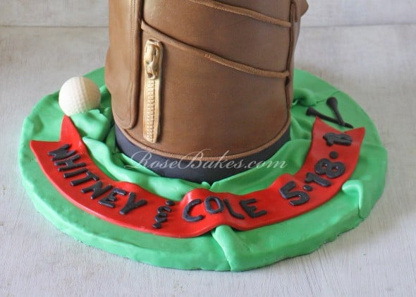 Golf Bag Groom S Cake Or For Father S Day Rose Bakes