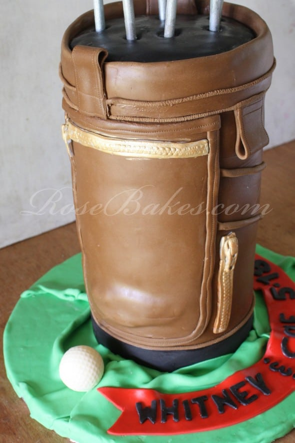 Golf Bag Cake Side 2