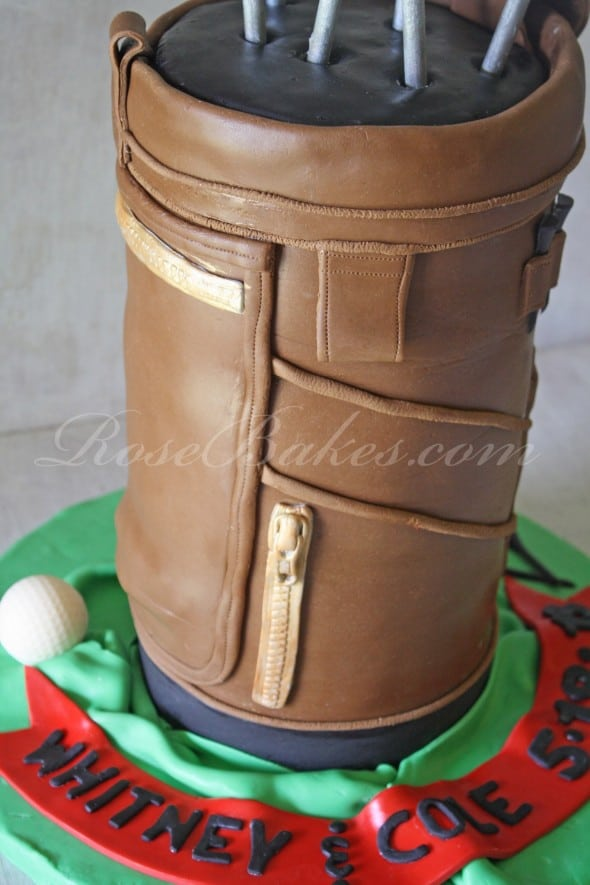 Golf Bag Cake Side