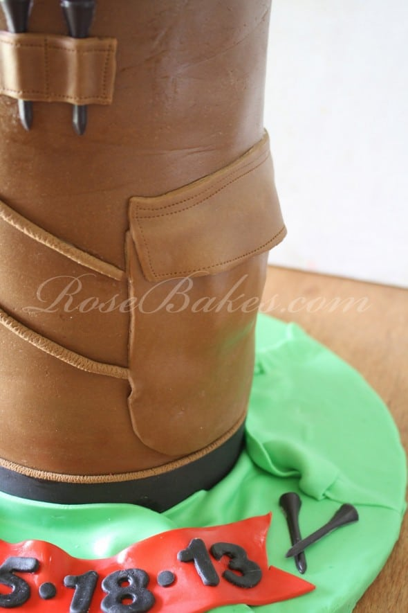 Golf Bag Grooms Cake Side