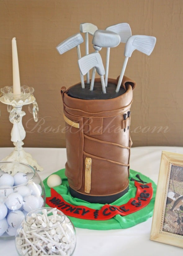 Golf Bag Grooms Cake Table