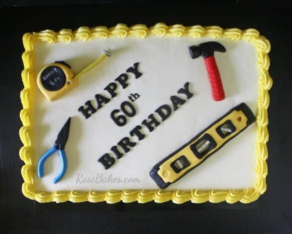 Happy 60th Birthday Tools Cake