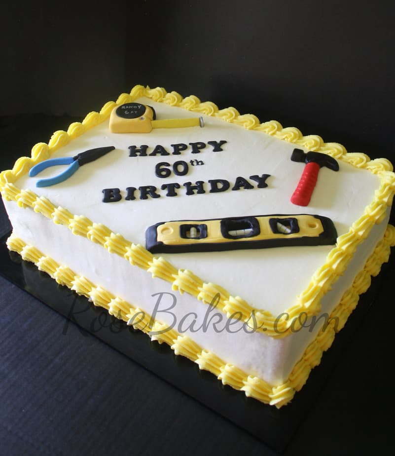 Remarkable Tools Cake For 60Th Birthday Happy Fathers Day Rose Bakes Funny Birthday Cards Online Necthendildamsfinfo