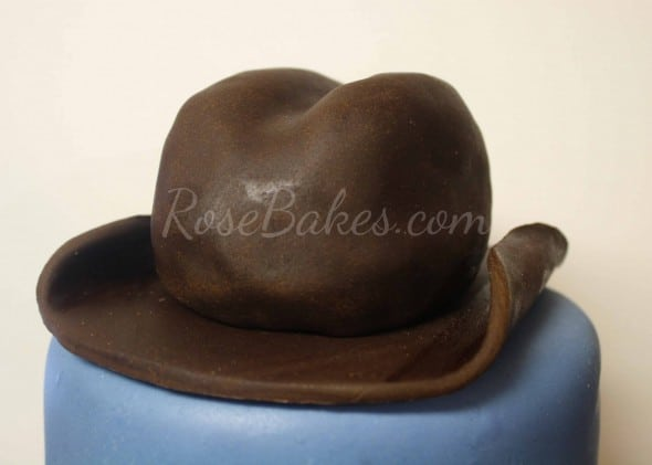 How to Make Cowboy Hat Cake Topper 42