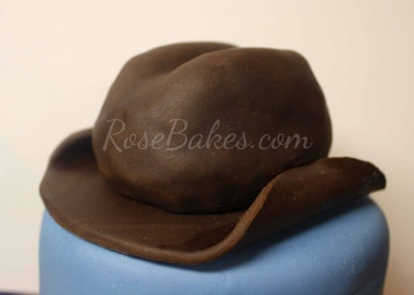 How to Make Cowboy Hat Cake Topper 43