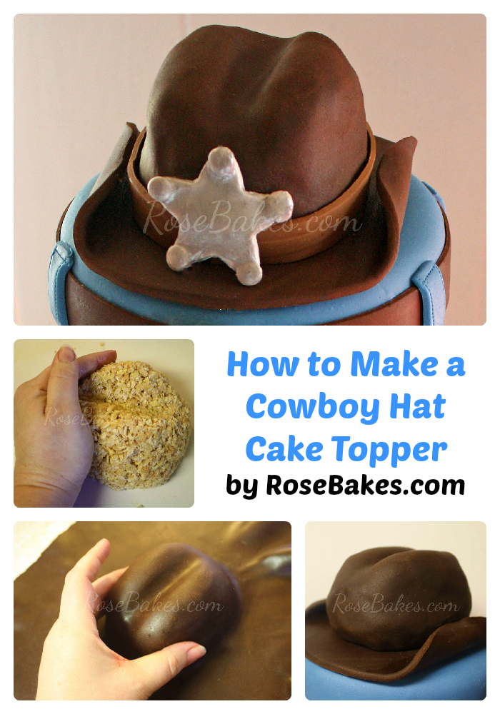 How to Make Cowboy Hat Cake Topper Collage for Pinterest c2049e98c58c