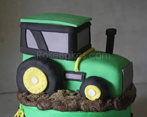 How To Make A Tractor Cake Picture Tutorial Rose Bakes