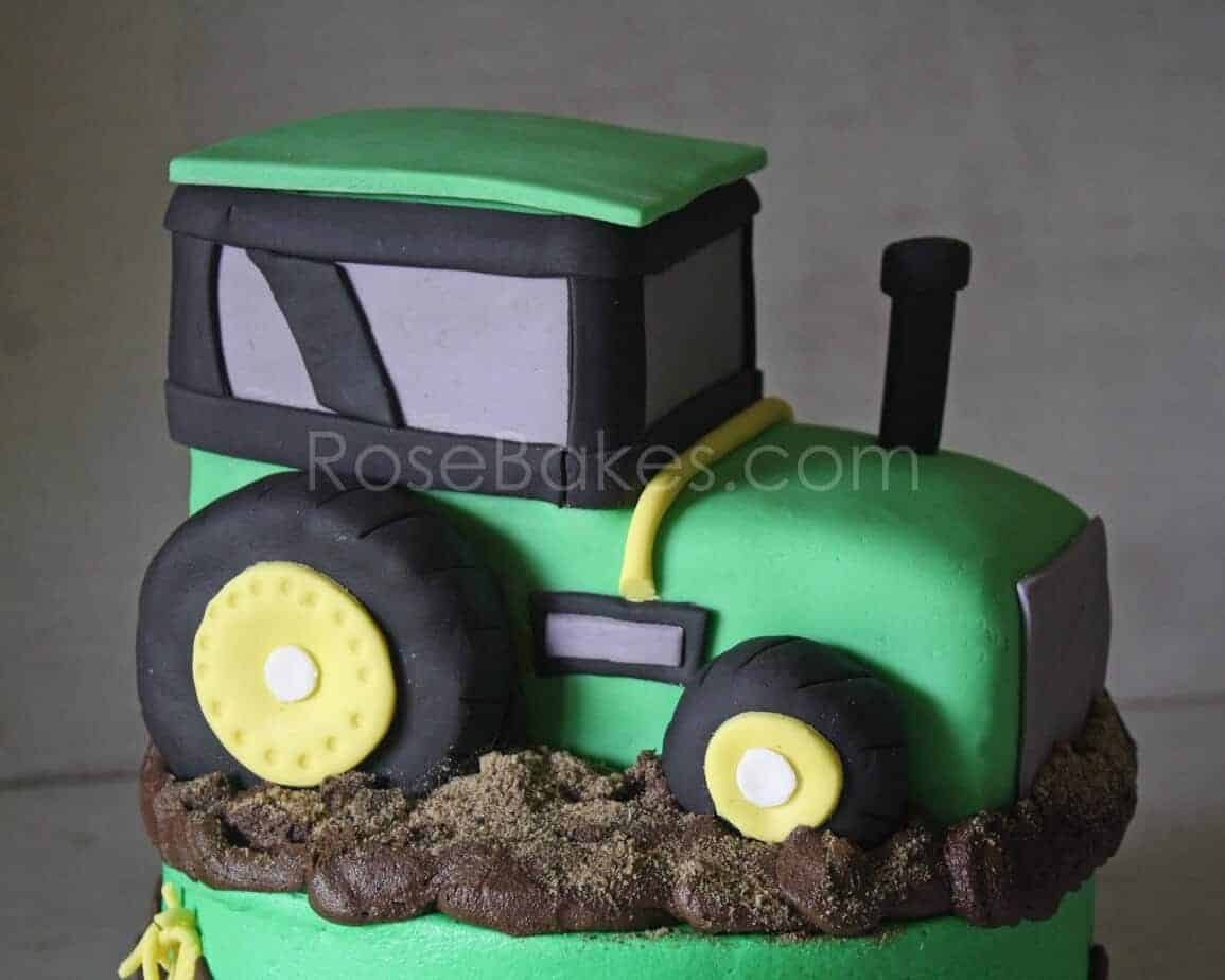 Rose Bakes Tractor Cake