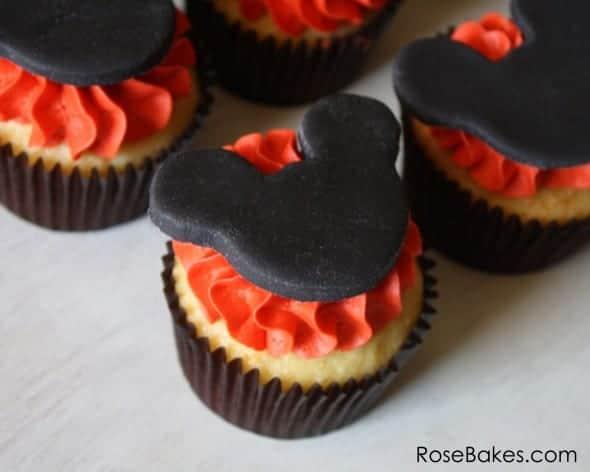 Mickey Mouse Head Cupcakes