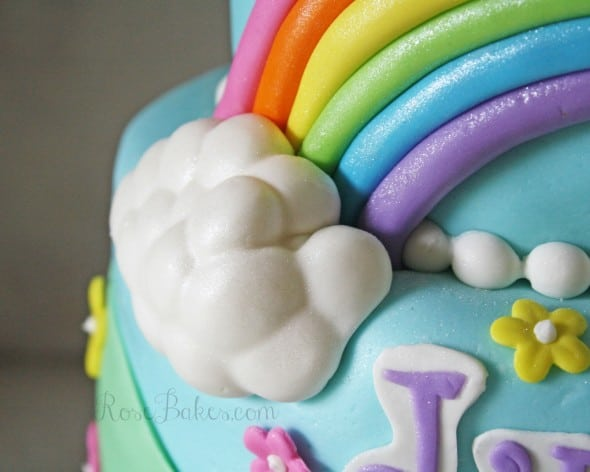 My Little Pony Cake With Poofy Clouds WM