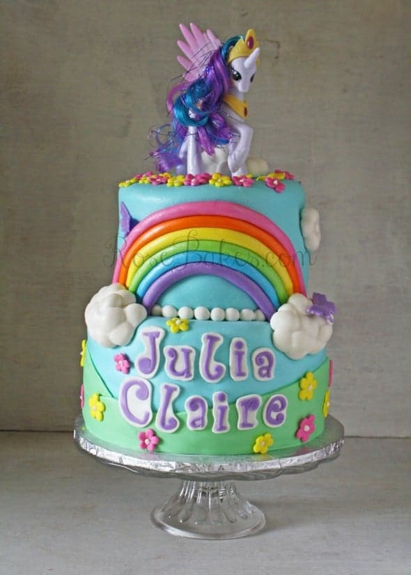 My Little Pony Rainbow Cake 1